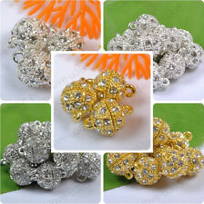 5/10/20Sets Silver/Gold Plated Crystal Powerful Magnet Clasps Jewelry Findings