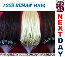 "16"" Loop Micro Ring 100% Remy Human Hair Extensions,Choose Colour, Grade AAA"