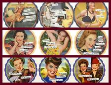 Sassy Retro Fun 6 Coaster Set by Anne Taintor Vintage-Revisited. 3 Designs Avail