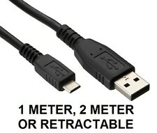 USB 2.0 A Male To B Micro USB Data Sync Cable Charger Lead For Mobile Phones