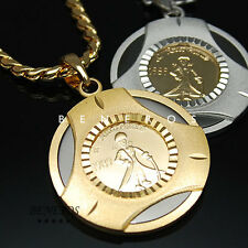 The little Prince Pendant Chain Necklace 18k Gold & Silver Plated Mens Jewelry