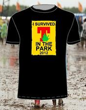 I SURVIVED T IN THE PARK 2012 T SHIRT IN BLACK all sizes