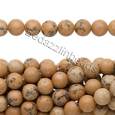 Lot of 10, 16 Inch Long Strands of Round Grain Stone Natural Gemstone Beads