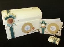 Personalised Seaside Shells Wedding Post Box Guest Book and pen SET Any Colour