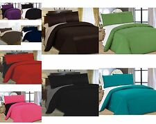 4 Pcs Complete Reversible Duvet Quilt Cover & Fitted Sheet Bed Set