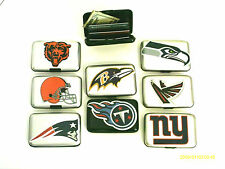 ALUMA SECURITY WALLET WITH NFL TEAM LOGOS, RFID BLOCKING, NFL MEMORABILIA