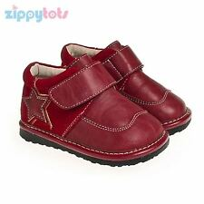 Little Blue Lamb Boys Toddler / Infant Squeaky Shoes Red Star