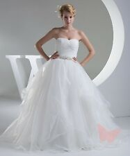 Tulle Full Length PROM/BALL/WEDDING Dress Bridal GOWN SIZE18,20,22,24,26,28
