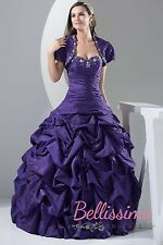 NEW HOT PINK/ROYAL BLUE TAFFETA PROM/BALL/WEDDING GOWN SIZE18,20,22,24,26,28#