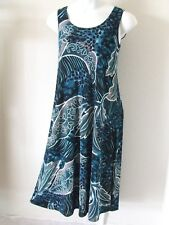 Travel Knit Dress, Long A-Line Tank, NEW, stretchy wash&wear poly/span #006