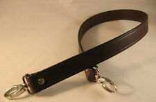 1 in. Chocolate Leather CrossBody Shoulder/Purse/Messenger/Bag Replacement Strap
