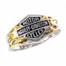 Harley-Davidson Ladies Sterling Silver Classic Logo Ring - NEW