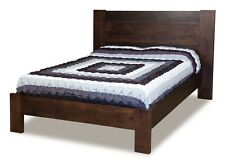 Solid Wood Panel Bed Bedroom Set Modern Amish Furniture King Queen Full Twin
