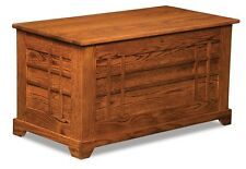 Amish Storage Cedar Chest Blanket Box Trunk Wooden Wood Bedroom Clothes