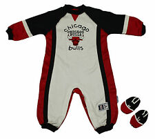 Mighty Mac NBA Chicago Bulls Infants Toddlers Pajamas Coveralls Onesie Set