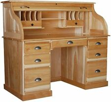 Amish Rolltop Desk Home Office Furniture Solid Wood New