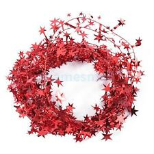 Glittering Star Tinsel Garland Christmas Wedding Party Decoration DIY Craft Gift