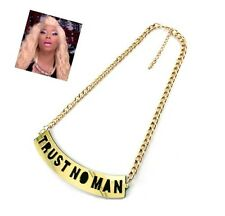 Short , Resin , Chain , Bold , Statement , Pendant Trust No Bitch , Get low New