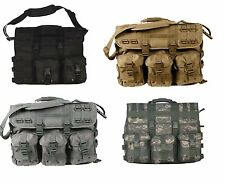 MOLLE Tactical Laptop Briefcase - Removable Pouches - Black, Tan, Foliage, ACU
