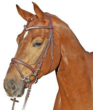 HKM Head Collar & Bridle with synthetic diamond browband leather -Marie-