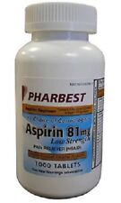 Low Dose Aspirin 81mg Heart Regimen Choose 120, 250 or 1000 Tabs