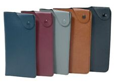 Faux Leather Stud Fastening Spectacle Case