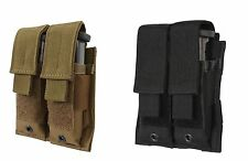 "MOLLE Double Pistol Magazine Pouch - Black or Coyote Brown - 4.25"" x 5"""