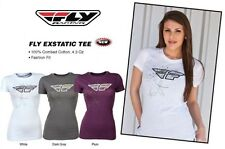 Girls Fly Racing Exstatic Tee Shirt T-Shirt Motocross Females Small Medium Large