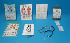 12th scale dolls miniature 8 items to use in doctors sugery or teaching hospital