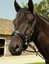 English Leather Comfort Bridle With or Without Flash Black & Havana All Sizes