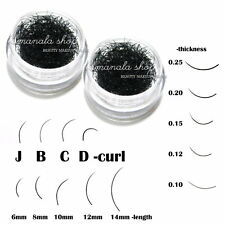Individual Black Curl False Eyelash Extension Eye Lash Makeup Tool Choose 2 Pot