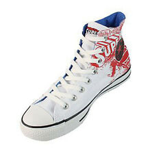 Converse Superman Unisex Trainers Hi Top, Trainer BootsWhite Red Print comic