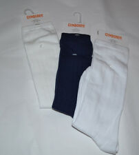 NWT Girls GYMBOREE White, Ivory or Blue Ribbed Uniform Knee Socks Sz 3-4 or 5-7