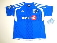 MLS Adidas Montreal Impact BMO Team Color Kids Blue Soccer Jersey