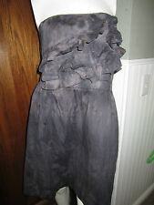 Sweet Love Grey Dye Ruffle Grommet  Dress From Hot Topic Different Sizes