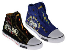 Ed Hardy HIGHRISE Kids Canvas High Top Slip On Sneakers Shoes
