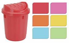Plastic Small Office Desk Storage Waste Bin Sweet Jar with Swing Lid