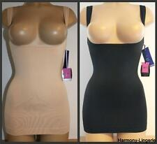 UNDERBUST Tummy Control Body Shaper Slimming Shapewear Vest NUDE SKIN or BLACK