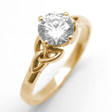 Trinity Knot Ring 1ct Diamond-Unique 9ct Gold White/Yellow