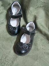 Stride Rite Toddler Girl Girls Kennedy Mary Jane Dress Shoes Black Shiny MJ Shoe