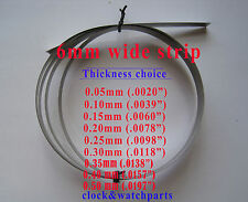 CLOCK SUSPENSION SPRING STEEL STRIP SHIM, 0.05mm up to 0.50mm, steel shim spring