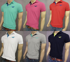 NWT HOLLISTER SHORT SLEEVE  MEN SLIM MUSCLE FIT POLO T SHIRT TEE