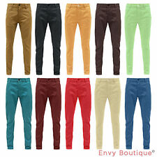 BELLFIELD MENS TWISTED SEAM STRAIGHT LEG CHINOS JEANS WAIST 28-36""