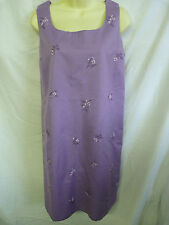 LADIES MOTHERCARE BLOOMING MARVELLOUS PURPLE EMBROIDERED SHIFT MATERNITY DRESS
