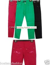 girls skinny stretch jeans denims trouser kid colourful clothing childrens wear