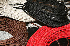 10' Choice Color  Vintage Style  Extension Cord  Cloth Covered Lamp Wire w/Plugs