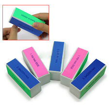 2 x Pro 4 Way Nail File Buffer Polishing Block Nail Art Manicure Nail Art Tools