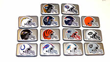ALUMA SECURITY WALLET WITH NFL HELMET LOGOS, RFID BLOCKING, NFL MEMORABILIA