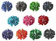 Dots and Stripes Suzie Q Korker Hair Bow (11 Colors Available)