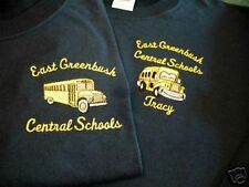 Personalized School Bus T-Shirt Embroidered Black